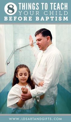8 Things to Teach Your Child Before Baptism | Baptism is a child's first ordinance in the LDS Church, but they must be prepared. Here are 8 great things to teach before he or she turns 8 years old.