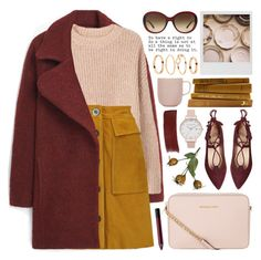 """""""suede mini skirt"""" by jesuisunlapin ❤ liked on Polyvore featuring Burberry, MANGO, H&M, Polaroid, Urban Decay, M.i.h Jeans, MICHAEL Michael Kors, Gucci, iittala and balletflats"""