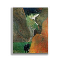 Title: Seascape with Cow on the Edge of a Cliff. Product type: Print on metal. Our environmentally friendly, anodized aluminum yields images with incredible vibrancy and texture while adding shimmer and modernity.   eBay!