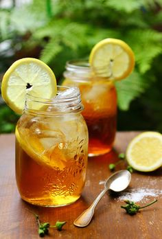 Nothing taste better than sweet tea in a mason jar. Believe it or not, my grandma used to do this with I was younger.