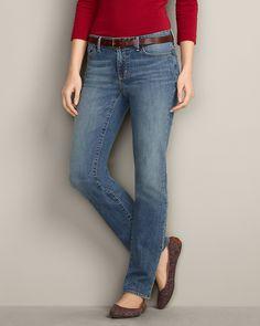 Truly Straight Denim Straight Leg Jeans   Eddie Bauer
