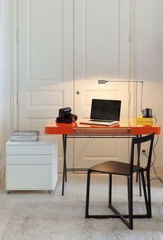 Glossy lacquered MDF writing desk COSIMO LAQUÉ BRILLANT by Adentro | #design Marco Zanuso @adentro0063