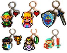 Final Fantasy Sprites Llaveros broches sprites por FreakCreations