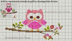 This Pin was discovered by Mih Cross Stitch Owl, Butterfly Cross Stitch, Cross Stitch Animals, Cross Stitch Charts, Cross Stitch Designs, Cross Stitching, Cross Stitch Embroidery, Cross Stitch Patterns, Crochet Bobble Blanket