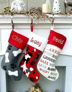 Cool Creative Christmas Stocking Ideas For Stylish Interiors Unique Christmas Stockings, Dog Christmas Stocking, Silver Christmas Decorations, Christmas Crafts, Felt Decorations, Christmas Sewing, Homemade Christmas, Christmas Ornaments, Classy Christmas