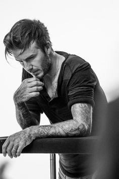 Deep in Thought from David Beckham Models for H&M | E! Online Moda David Beckham, David Beckham Style, Bend It Like Beckham, New Underwear, Photography Poses For Men, Mode Style, Beautiful Men, Robin, Handsome