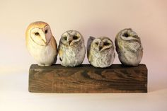 Bird Sculpture - Barn Owls