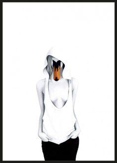 Swan Lady - Dagens Poster | BoligciousBoligcious