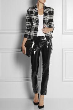 Shown here with: Versace blazer, T by Alexander Wang top, Bottega Veneta bracelets, Gianvito Rossi shoes, Joseph bag.