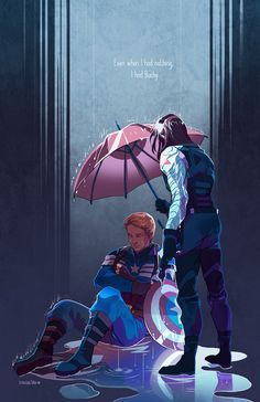 Even when I had nothing I had Bucky fanart by Sonia Liao