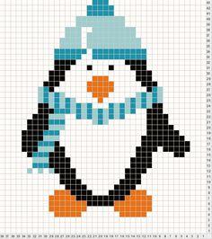 penguin cross stitch patterns free | Found on tricksyknitter.com