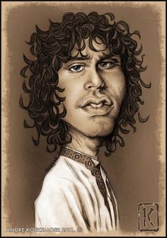 Caricature of Jim Morrison, The Doors