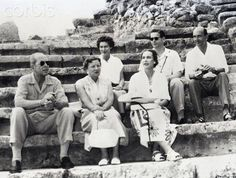 queen frederika of greece with King Paul, Queen Juliana of the Netherlands, King Umberto and Queen Marie Jose of Italy and King Michael of Romania Princess Victoria, Queen Victoria, Michael I Of Romania, Old Photos, Vintage Photos, Romanian Royal Family, Royal Cruise, Princess Alexandra, Rich Image