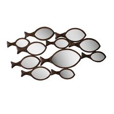 Catch that image in the fish-shaped mirror? It's your peaceful face enjoying a relaxing time by the water.  Find the In School Mirror, as seen in the Exploring the Rustic Adirondacks Collection at http://dotandbo.com/collections/exploring-the-rustic-adirondacks?utm_source=pinterest&utm_medium=organic&db_sku=KLL0331