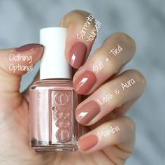 Essie Desert Mirage 2018 Collection : Swatches, Re. Neutral Nails, Nude Nails, My Nails, Acrylic Nails, Gradient Nails, Glitter Nails, Essie Nail Polish Colors, Gel Polish, Manicure Y Pedicure