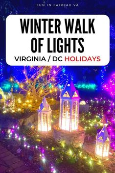 Winter Walk of Lights is a beautiful walk-through holiday light show in Northern Virginia, close to Washington DC.