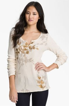 Lucky Brand 'Golden Branch' Thermal Top available at #Nordstrom