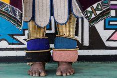 Detail of Beadwork of Ndebele Woman