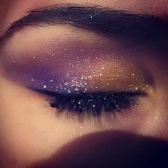 Shimmer Makeup, Glitter Nail Polish, Shimmer Eye Shadow, Glitter Lip... ❤ liked on Polyvore featuring beauty products, makeup and eyes