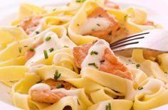 Tagliatelle Salmon Stock Photo (Edit Now) 64181578 Paleo Fish Recipes, Pasta Recipes, Dinner Recipes, Redfish Recipes, Sauce A La Creme, Salmon Pasta, Salmon Sauce, Plat Simple, Seafood Pasta