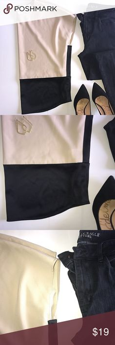 DKNY Silk Blouse Color block Silk DKNY Blouse! Perfect conditions. Very flowy.  •Pet Free / Smoke Free •SHIPS NEXT DAY  💰 Reasonable OFFERS considered 💰 DKNY Tops