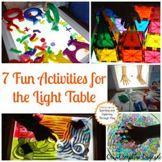 Learning and Exploring Through Play: 7 Activities for the Light Table