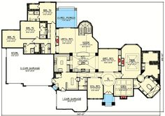 Luxury 4 Tuscan Ranch House Plan - 89978AH | 1st Floor Master Suite, Butler Walk-in Pantry, CAD Available, Corner Lot, Den-Office-Library-Study, European, Luxury, Mediterranean, PDF, Ranch, Split Bedrooms, Tuscan | Architectural Designs