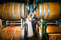 Brooklyn Winery's Barrel Room is perfect for romantic wedding photos.