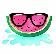 Art, illustration, hand lettering, design, murals and more. Watermelon Drawing, Cute Watermelon, Cute Fruit, Watermelon Decor, Stickers Kawaii, Summer Wallpaper, Fruit Art, Summer Fruit, Cute Drawings