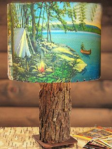 Canoe Campsite Lampshade....I have 2 of these....whispering pines site is awesome