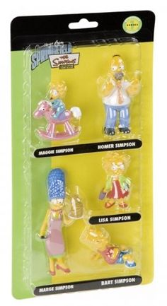 The Simpsons - Merchandise - 5 Piece Figurine Assortment (The Family) (Size: 5 to 7) @ niftywarehouse.com #NiftyWarehouse #TV #Shows #TheSimpsons #Simpsons