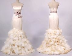 A ruffled #weddingdress anyone?