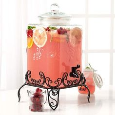 Tabletops Gallery Glass Drink Dispenser with Stand - 4.75 gallon on eBay!