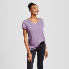 Women's Short Sleeve Relaxed V-Neck Tee