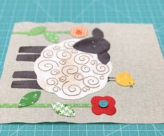I hope y'all are ready for Week Two of the Farm Sweet Farm Sew Along:) We are u. Farm Quilt Patterns, Applique Patterns, Applique Quilts, Pattern Blocks, Sewing Crafts, Sewing Projects, Bee In My Bonnet, Quilt Stitching, Cute Little Baby