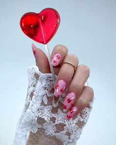 Garra, Cute Nails, Pretty Nails, Red And Pink, Pretty In Pink, Birthday Goals, Nailart, Dream Nails, Red Aesthetic