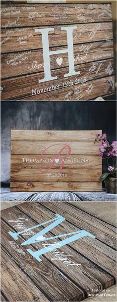 Rustic Wedding Ideas - Rustic Real Wooden Wedding Guest Book Alternative - My Fashion World Wooden Wedding Guest Book, Wooden Wedding Signs, Wood Guest Book, Guest Book Sign, Wedding Book, Guest Books, Wedding Rustic, Trendy Wedding, Guest Book Ideas For Wedding