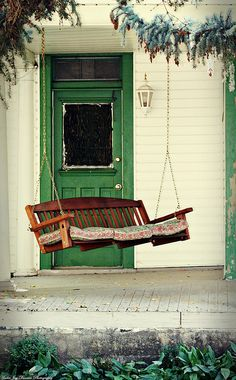 Photo of a tippy but homey porch swing