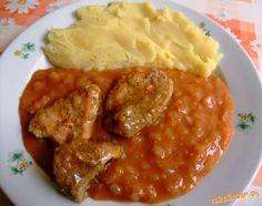 Prívarok z hlávkovej kapusty s paradajkovým pretlakom Dominican Republic Food, What To Cook, Chana Masala, Food And Drink, Cooking Recipes, Chicken, Ethnic Recipes, Nova, Art