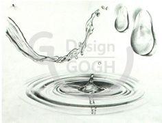[소묘] 물 파장 & 물방울