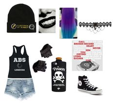 """""""Goth 8"""" by animelover03 on Polyvore featuring Zara, Converse, Skingraft and Valfré"""