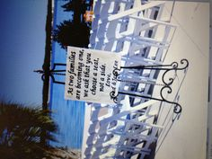 Wedding Isle -  Choose a seat not a side