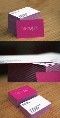 Pink Letterpress Design ... nice business card