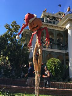 Outside of Haunted Mansion in Disneyland