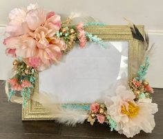 Boho Tribal Frame 5x7, baby shower, wedding, nursery, shabby chic, girl room, tea party, secret garden, pow wow party, party,pink and gold by Rusticredoo on Etsy https://www.etsy.com/listing/499433872/boho-tribal-frame-5x7-baby-shower