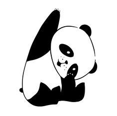 Osito panda saludando | Tomavinilo