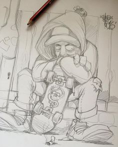 Sketching whatever comes in my head,my usual morning ritual before doing shizzle I am supposed to be doing. Badass Drawings, Art Drawings Sketches Simple, Cartoon Drawings, Cartoon Art, Doodle Art Drawing, Graffiti Drawing, Graffiti Piece, Street Art Graffiti, Graffiti Alphabet