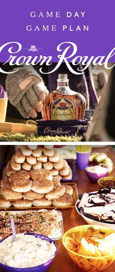 Crown Royal knows a generous football tailgate starts with the spread. Grab the hot dogs, hamburgers, chips, dip, and don't forget the potato salad. The big game calls for a total team effort–friends, family, and anyone wearing your team's colors. Thankfully the drinks will be the least of your worries, because a Crown Royal boilermaker is the game day cocktail everyone will appreciate. Simply pair 1.5 oz Crown Royal Deluxe whisky with your favorite beer and enjoy!