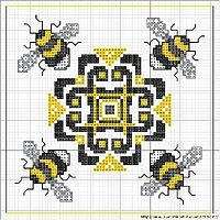 .This appeals to both my stitchy side, and to my bee-crazy side!