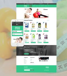 Look and Feel Great with these Pharmacy and Supplement / Nutrition Store Shopify Themes - Drug store (website theme) Item Picture